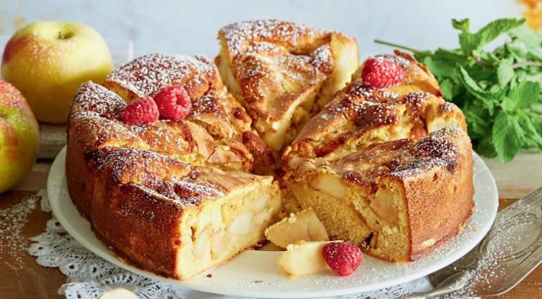Творожная шарлотка с яблоками в духовке рецепт с пошагово