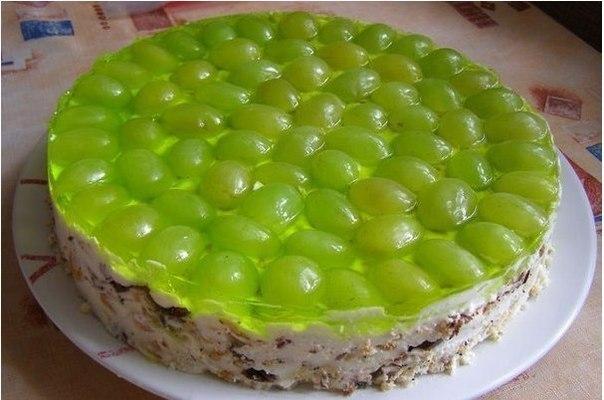 фото виноградный торт