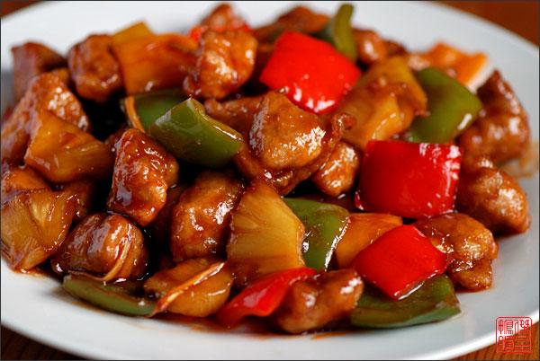 Овощи по китайски в кисло сладком соусе