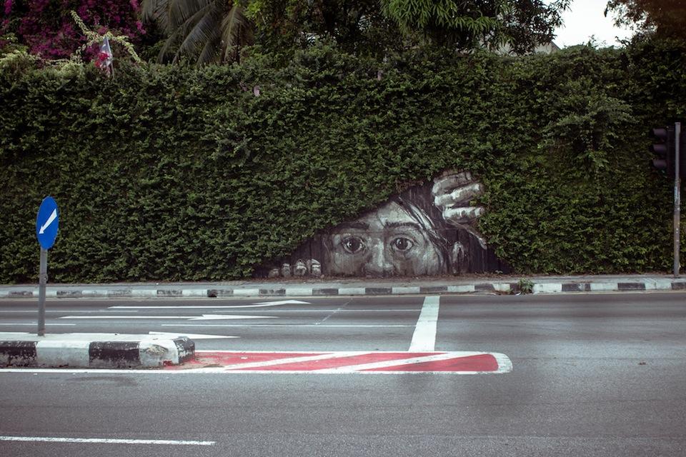 От Эрнеста Захаревича (Ernest Zacharevic). В Bangsar, Куала-Лумпур