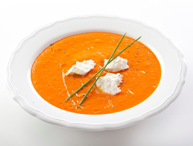 Суп из печеных овощей фото