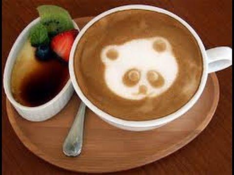 чашка латте с рисунком медвежонка фото