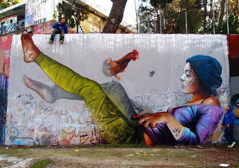 стрит-арт уличных художников Пичи (Pichi) и Аво (Avo) из Испании фото