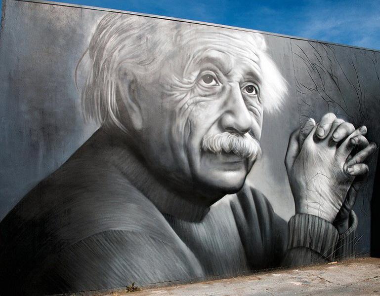 Портрет Альберта Эйнштейна от Оуэна Диппи (Owen Dippie) фото