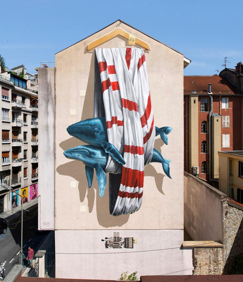 стрит-арт Гренобль, Франция фото