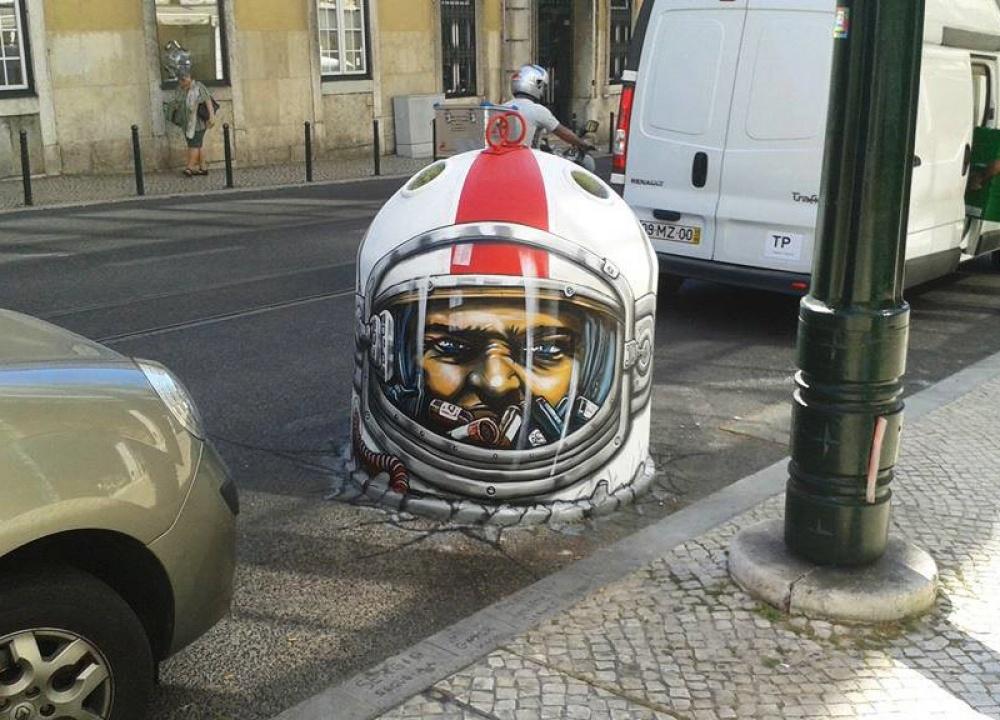 стрит-арт  Лиссабон, Португалия фото