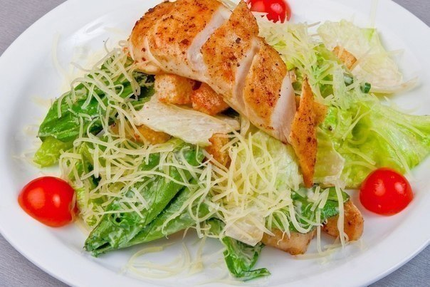 салат цезарь с курицей рецепты с фото