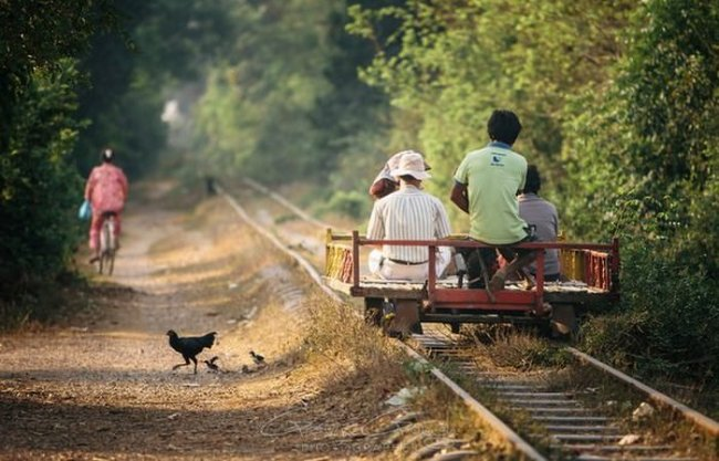 бамбуковый поезд фото