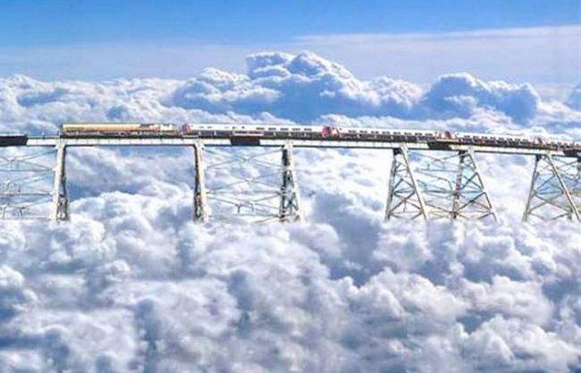 фото железная дорога tren a las nubes
