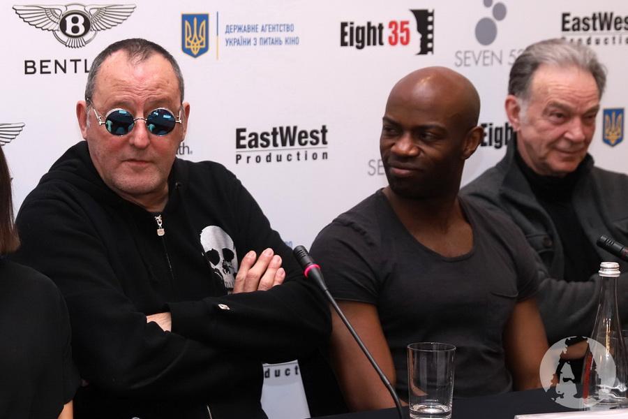 фото Дэвид Гяси и Жан Рено пресс-конференция Киев