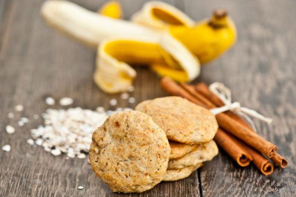 foto печенья из овсяных хлопьев с бананом