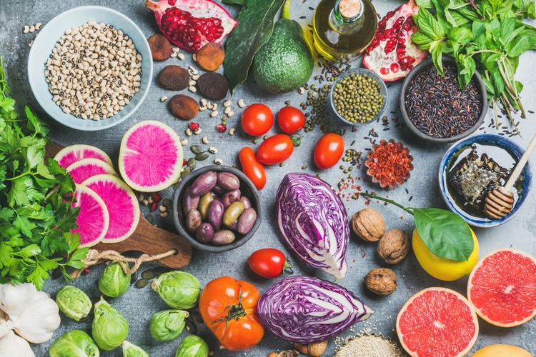 овощи, фрукты и бобовые