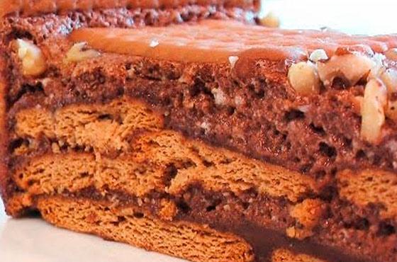 торт из овсяного печенья