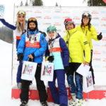 Ольга Сумская, Виталий Борисюк, Аня Борисюк, Андрей Кише с супругой - лыжные гонки Winter Celebrity Games фото