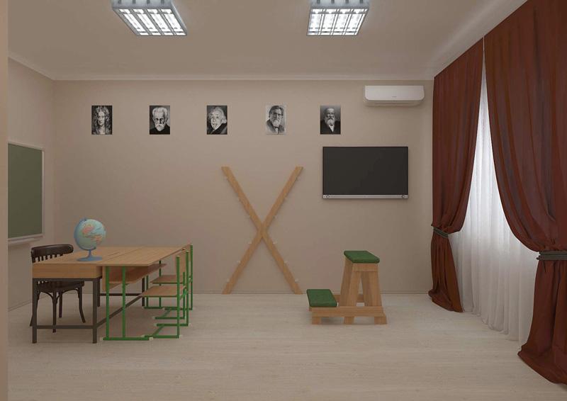 """фото комната """"Школьный кабинет"""" в отеле """"Cherry Twins"""""""