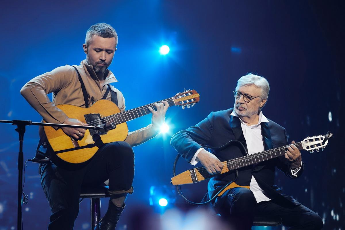 Сергей Бабкин и Френсисис Гойя на сцене Дворца Украина фото