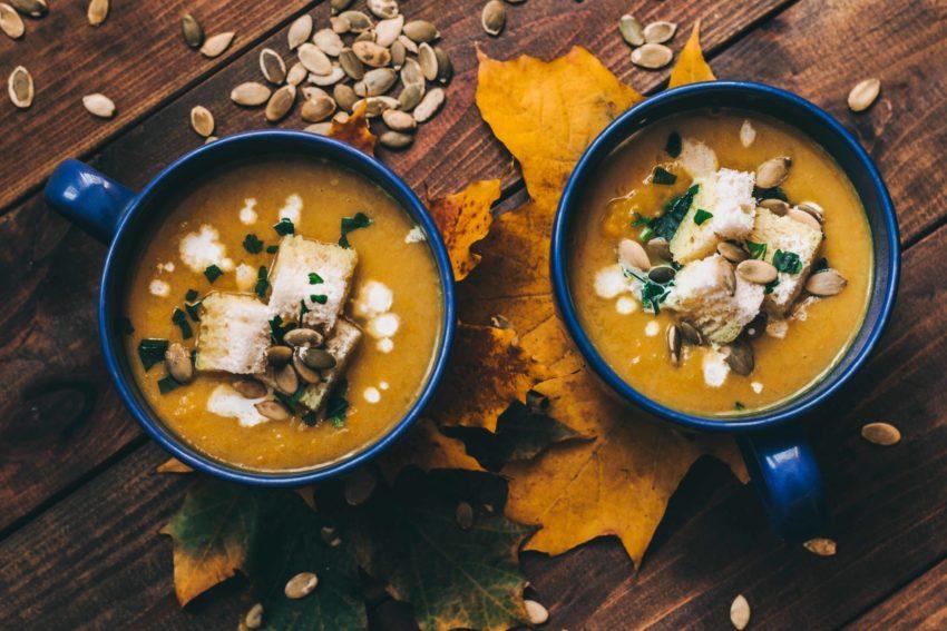 foto кремовый тыквенно-кокосовый суп с карри