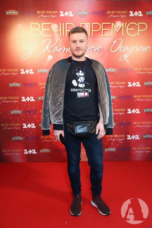 Андрей Царенок на вечере премьер с Катериной Осадчей фото