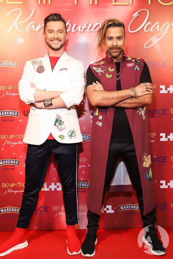 Авадор Лопес и Олег Серафин на Вечере премьер Кати Осадчей фото