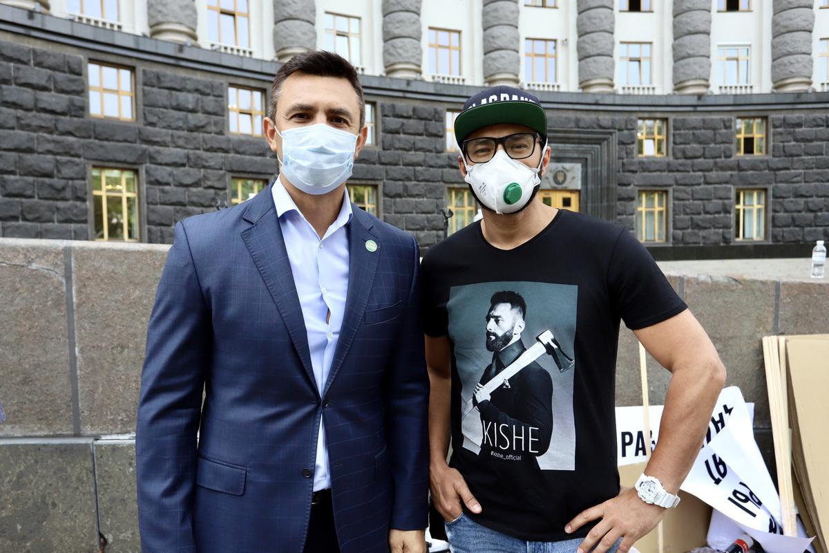 народный депутат Николай Тищенко и певец и продюсер Kishe