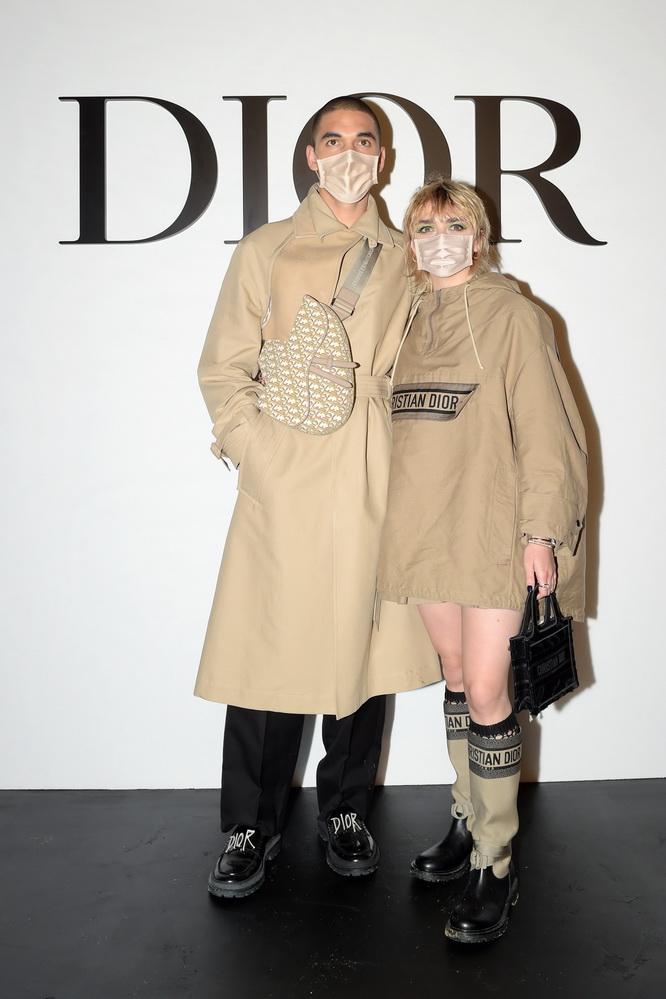 фото Рубен Селби и Мэйси Уильямс на показе Dior весна/лето 2021