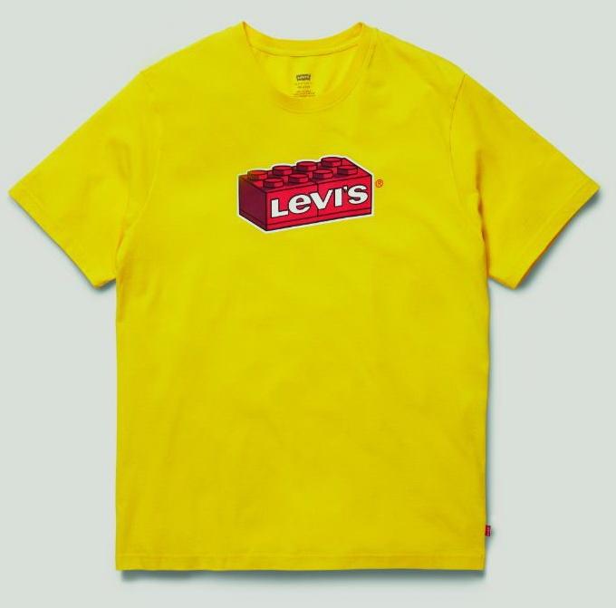 фото желтая футболка из коллекции Levi's LEGO