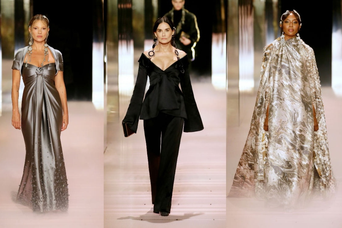 фото моделей дебютного показа Кима Джонаса коллекции Fendi