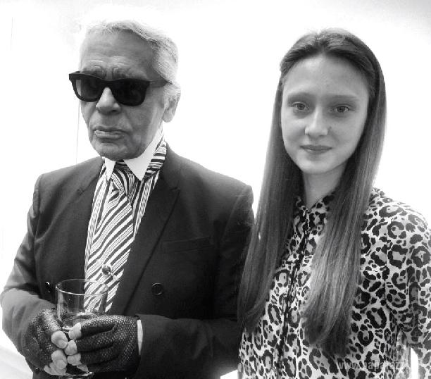 foto: Эвелина Самсончик и Карл Лагерфельд