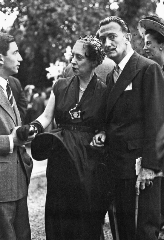 Фото: Эльза Скиапарелли и Сальвадор Дали, 1950