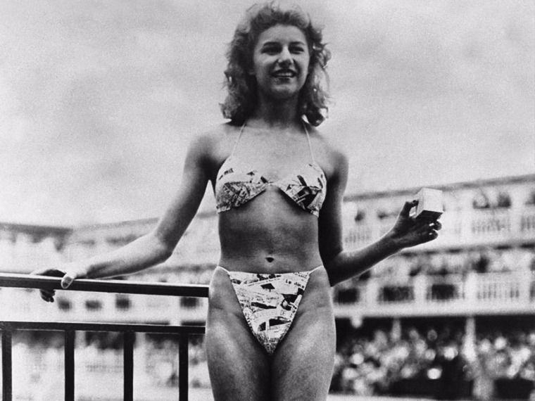 Фото: Купальник 1946 года от Dior